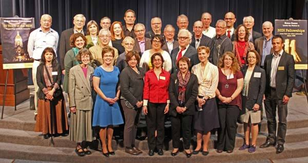 Notre Dame NEH fellowship winners gathered to celebrate ISLA's 30th anniversary.